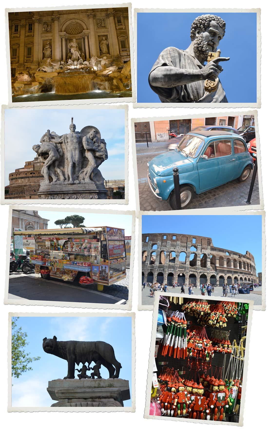 Roma : mes adresses gourmandes, images touristiques de la ville de Rome