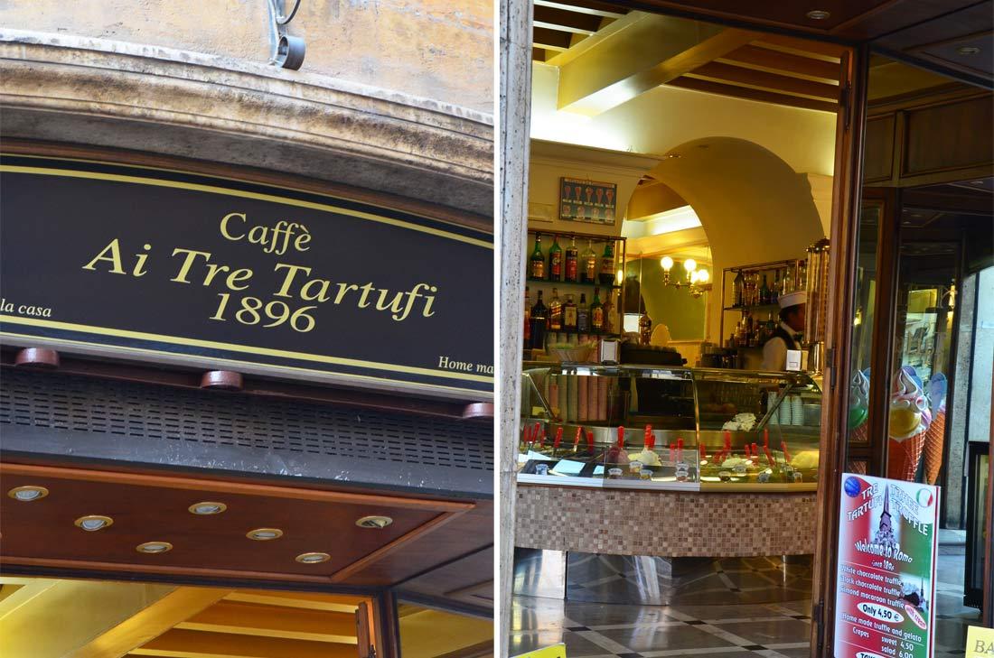 Adresses gourmandes à Rome : Caffè Ai tre Tartufi