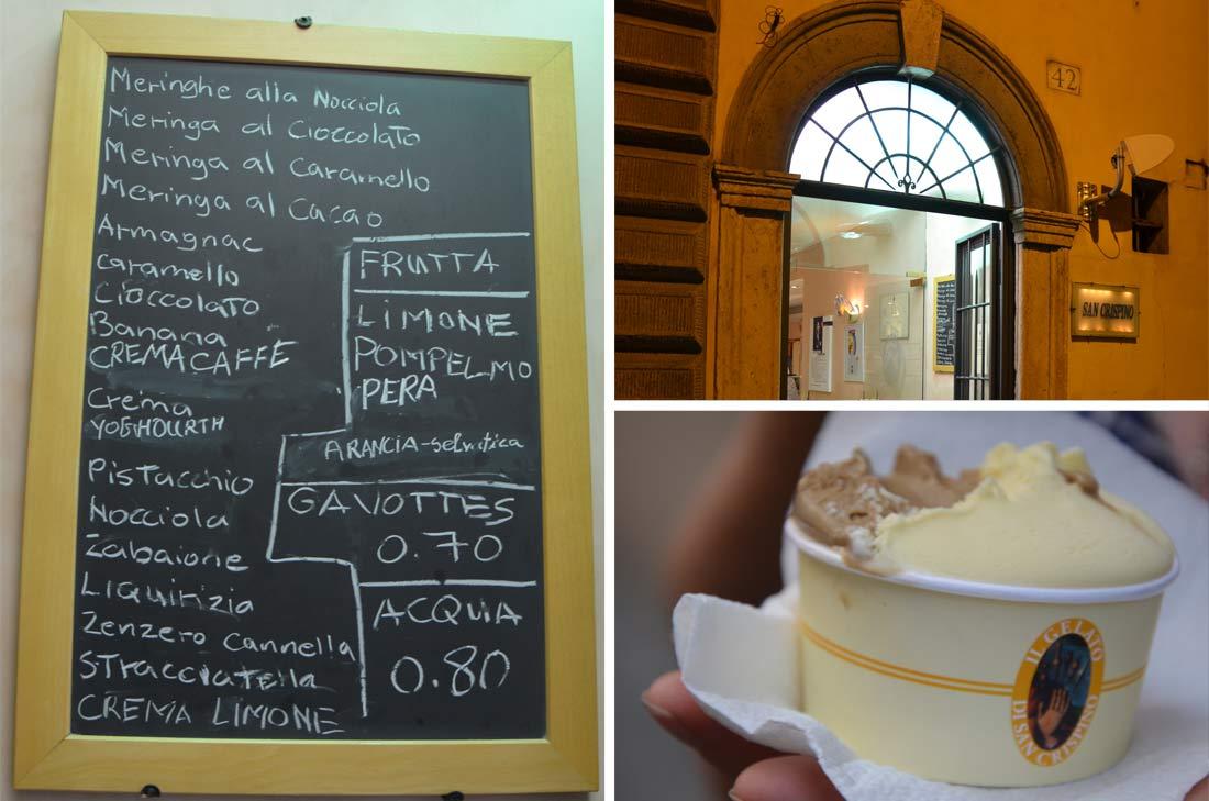 où manger des glaces à Rome : San Crispino