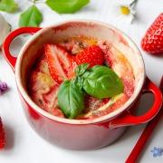 Recette de clafoutis fraises basilic