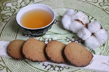 sablés thé matcha sésame noir