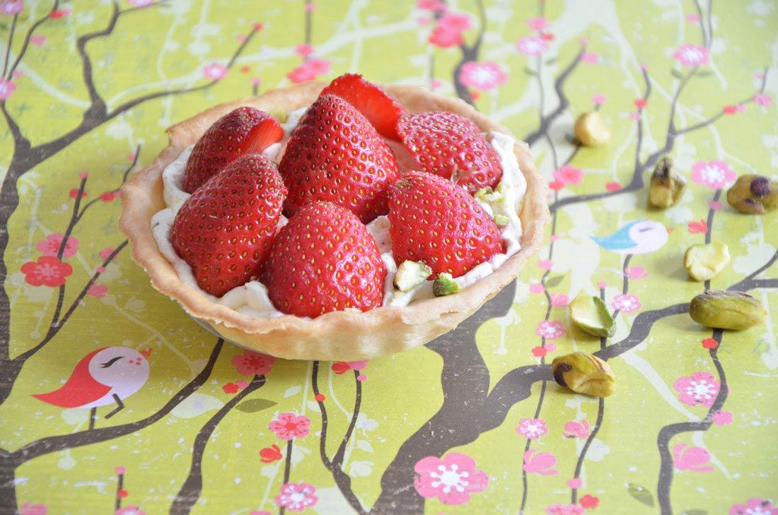 Tartelettes fraises pistaches