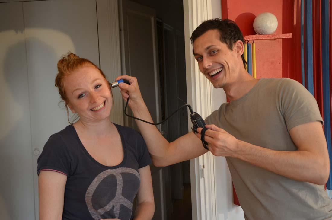 Diane et Anthony qui ont réalisé la vidéo pour Marie Claire Idées