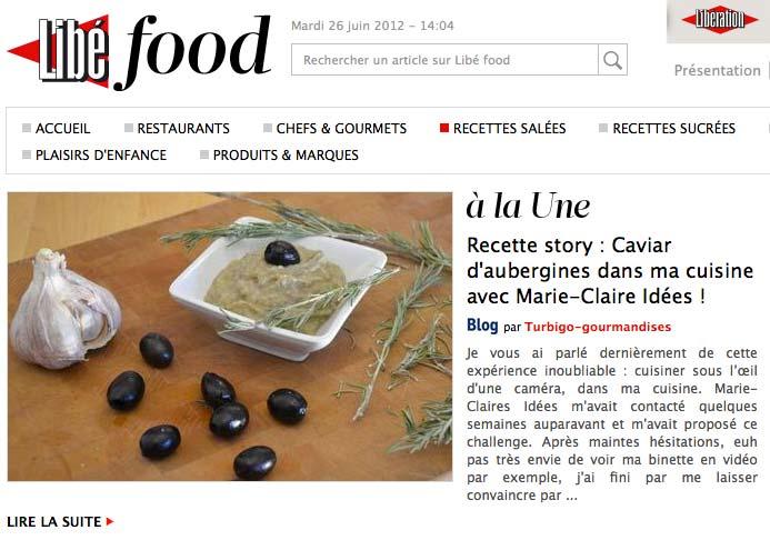Libé Food Caviar aubergines