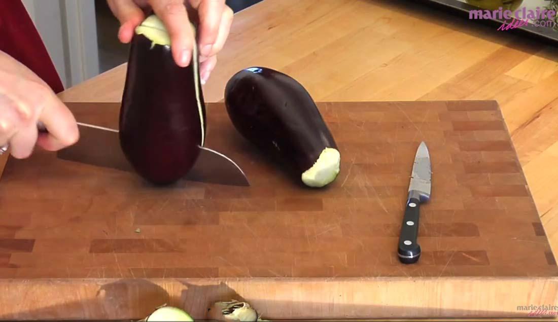 ma super recette de caviar d'aubergines filmée en vidéo par Marie-Claire