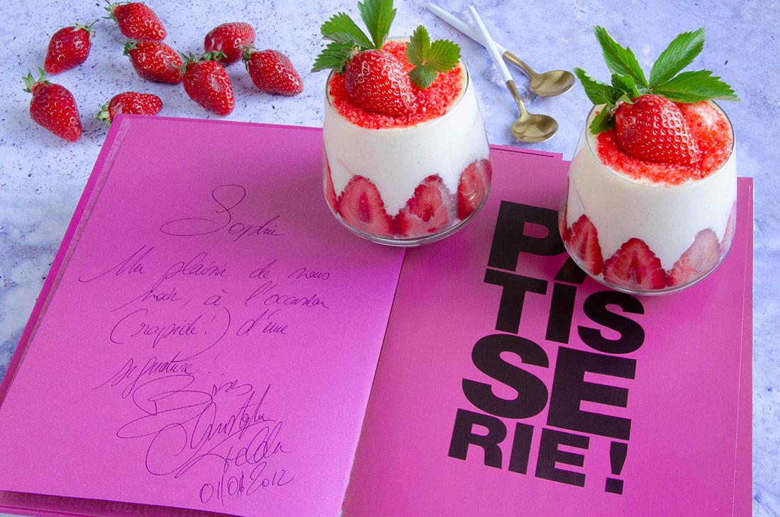 recette de tiramisu aux fraises de Christophe Felder