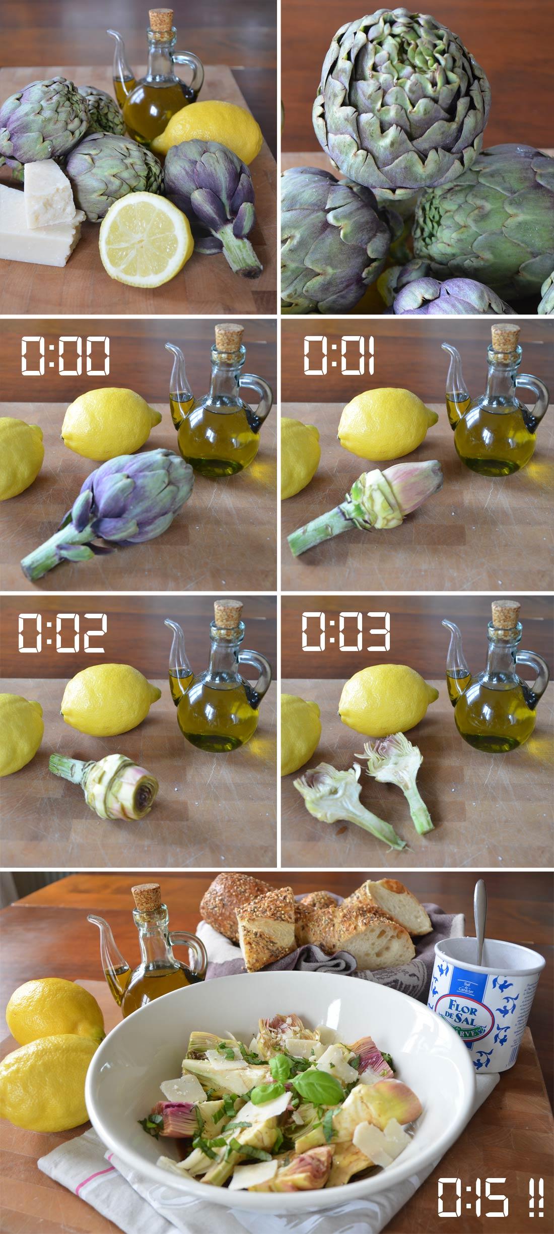 Artichauts poivrade au parmesan recette chrono