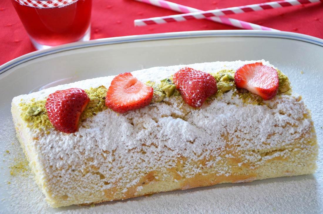 recette de Biscuit roulé à la fraise