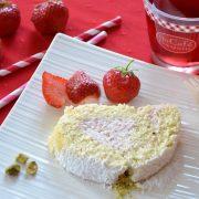 Biscuit roulé à la fraise
