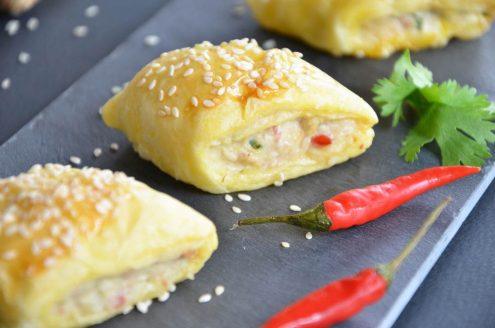 recette de feuilletés de poulet à la thaïlandaise