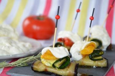 Recette de petits roulés de légumes à la burrata