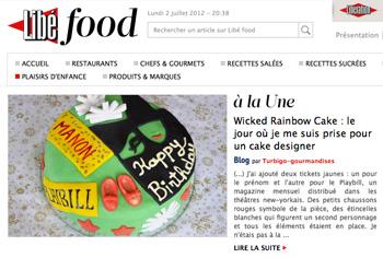 Recette de rainbow cake sur Libé Food