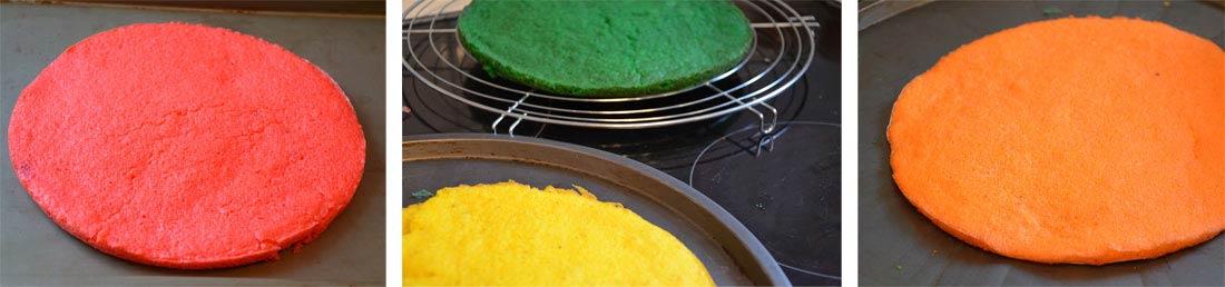 pas à pas gâteaux wicked rainbow cake ou gâteau arc en ciel