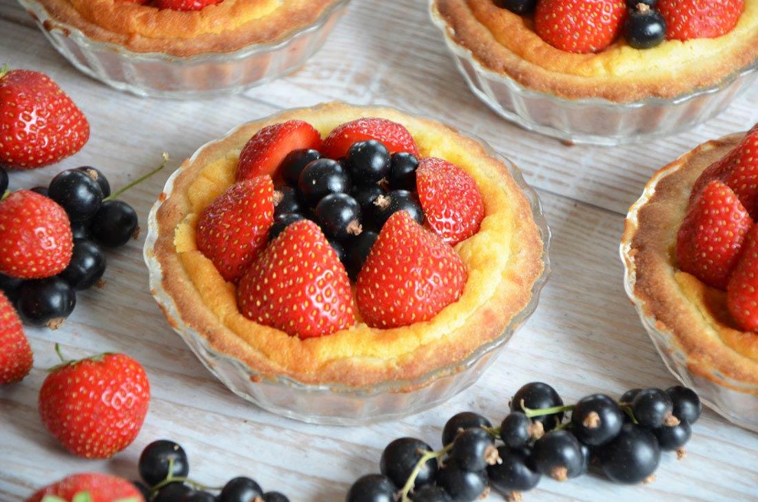 recette de tartelettes aux fraises et au cassis