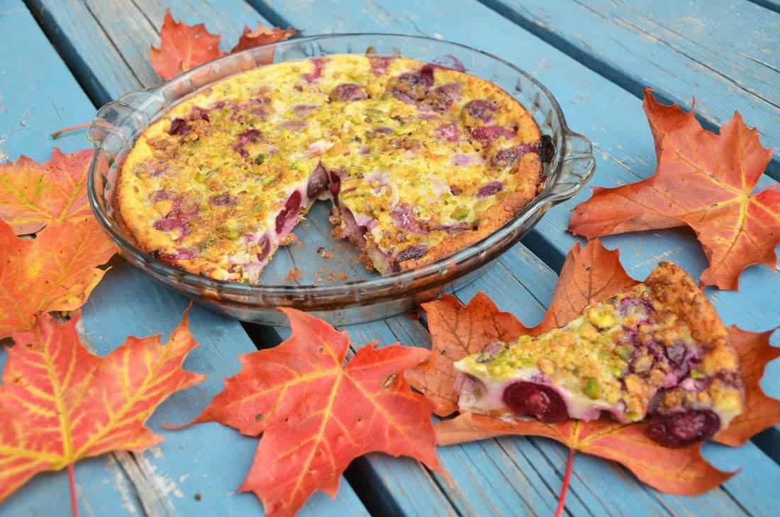 Clafoutis cerises pistaches