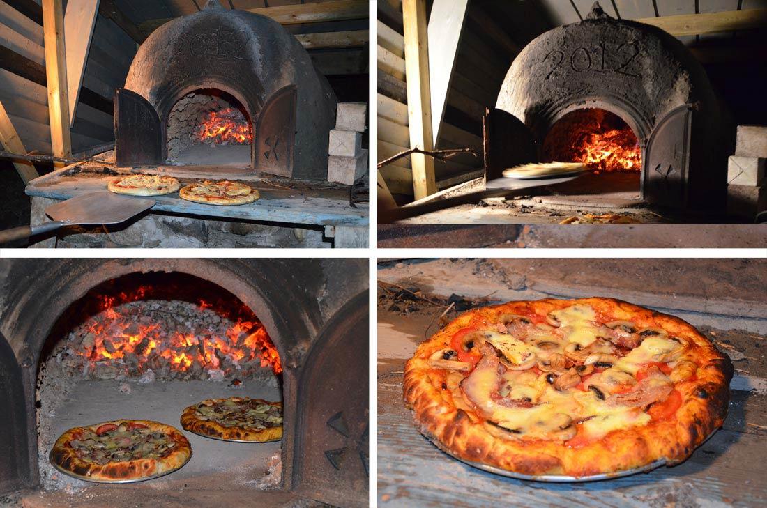 recette de pâte à pizza facile et construction du four à pain