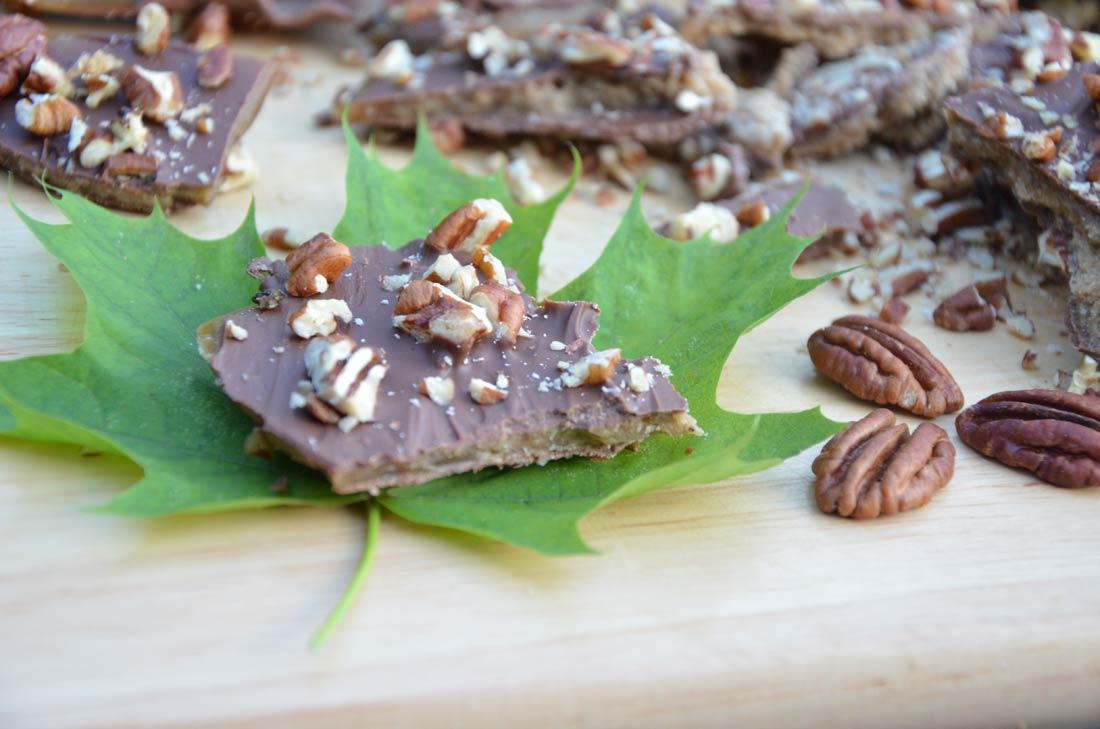 Recette de croquant à l'érable : gourmandises au chocolat et à l'érable du Québec