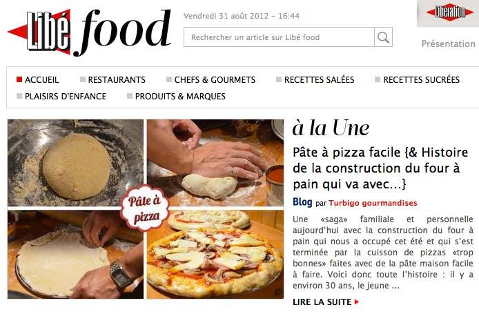 Libé food pizza