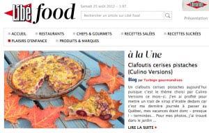 Libé Food recette clafoutis cerises Turbigo Gourmandises