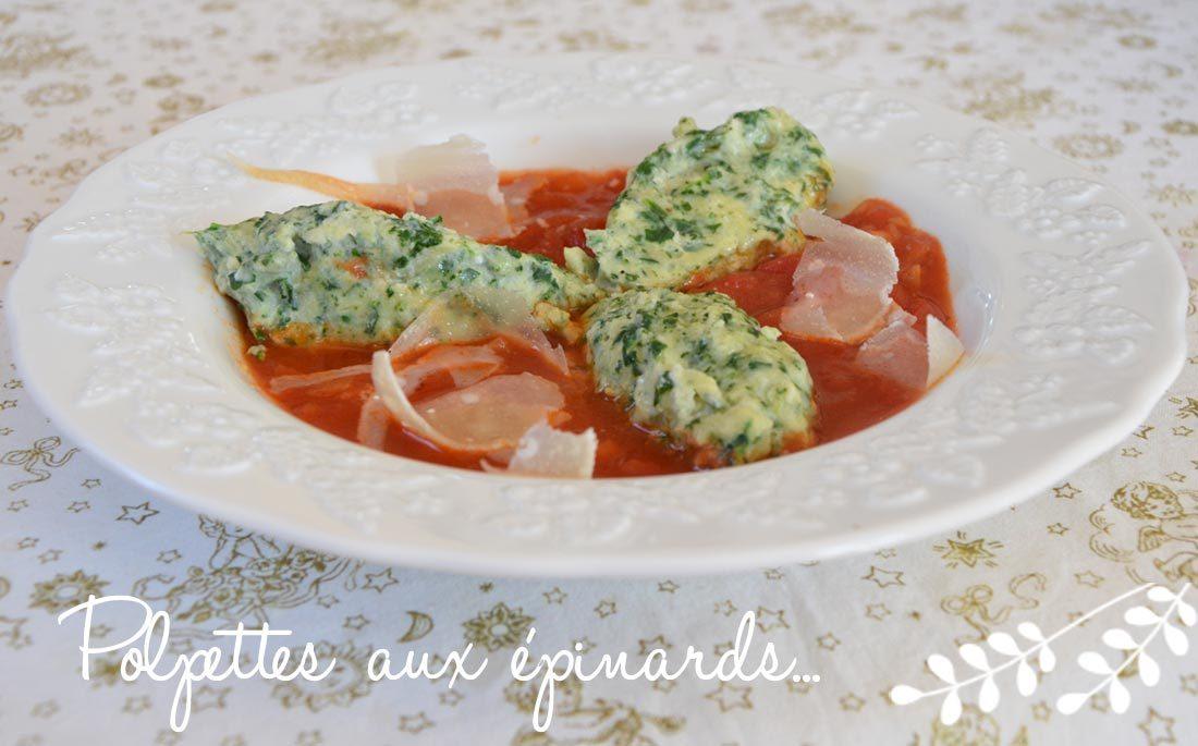 la recette de polpettes aux épinards de Ricardo