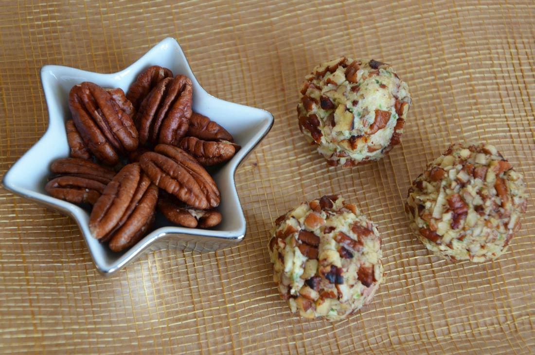 Truffes au cheddar et noix de pécan parfaites pour l'apéritif