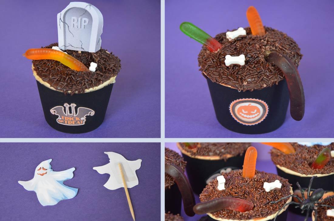 Recette de cupcake chocolat banane customisée pour Halloween