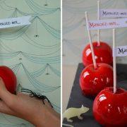 recette de pommes rouges pour Halloween
