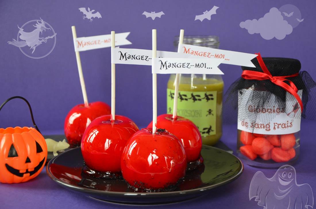recette de pommes d'amour pour Halloween