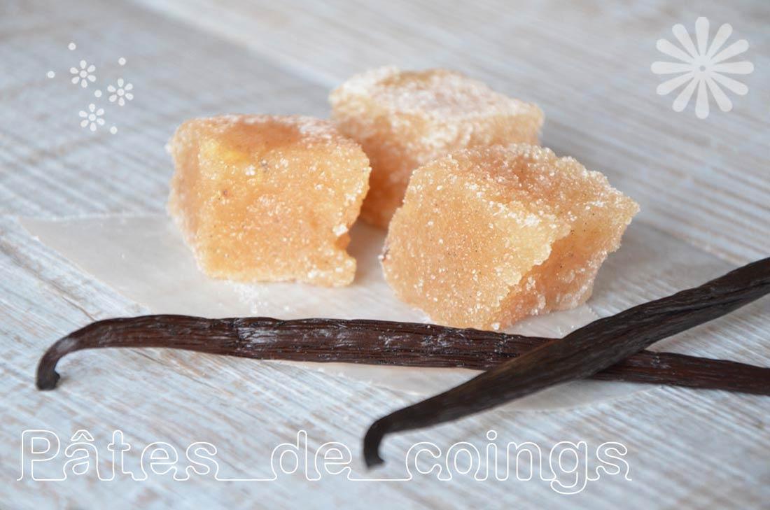 recette de Pâtes de coings à la vanille