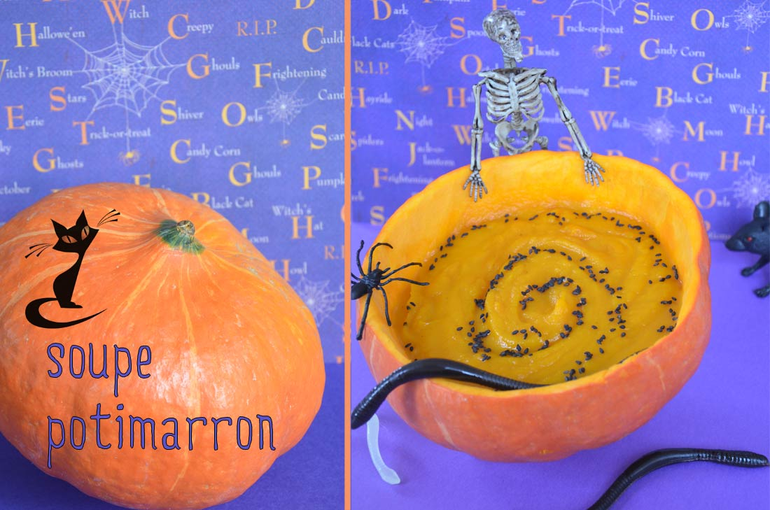 Soupe de potimarron version Halloween