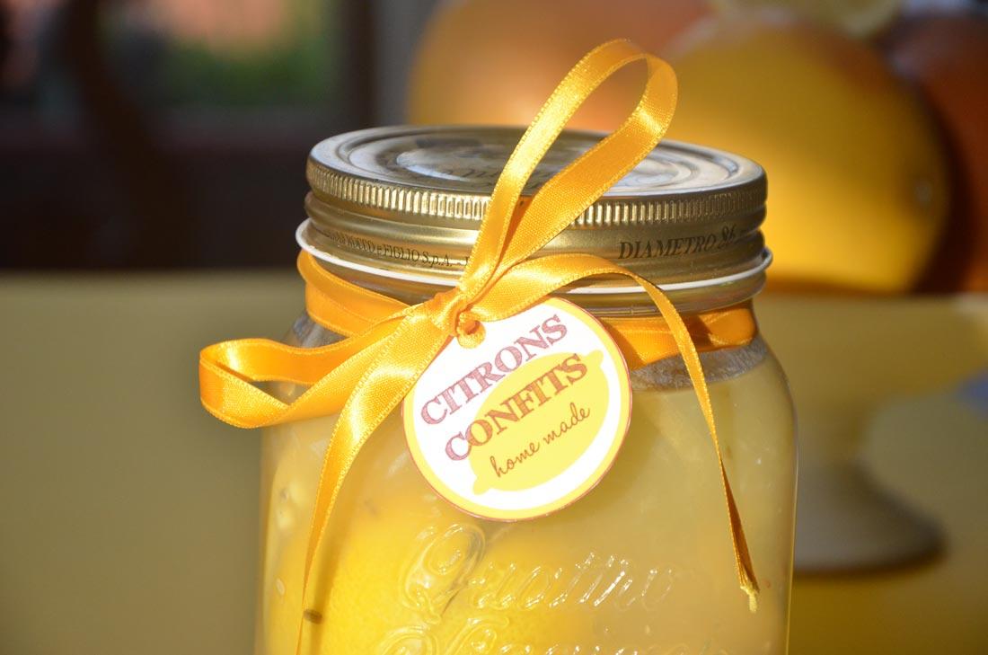 Citrons Confits pour des Cadeaux gourmands