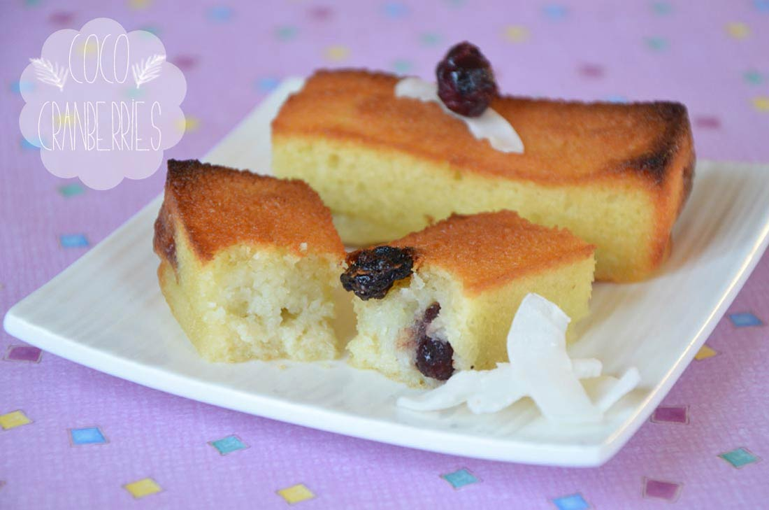 super recette de financiers coco cranberries