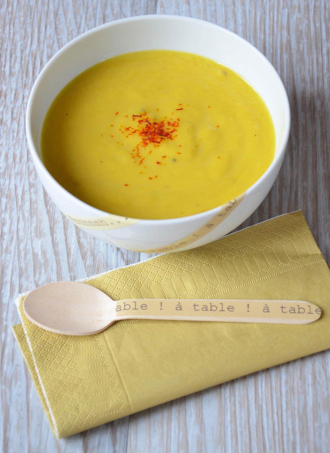 recette de potage au safran