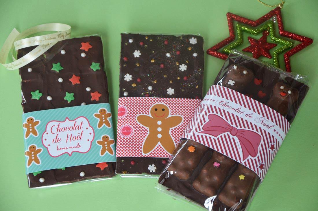 vous cherchez des idées pour des cadeaux gourmands : voila une bonne idée de tablette de chocolat customisé