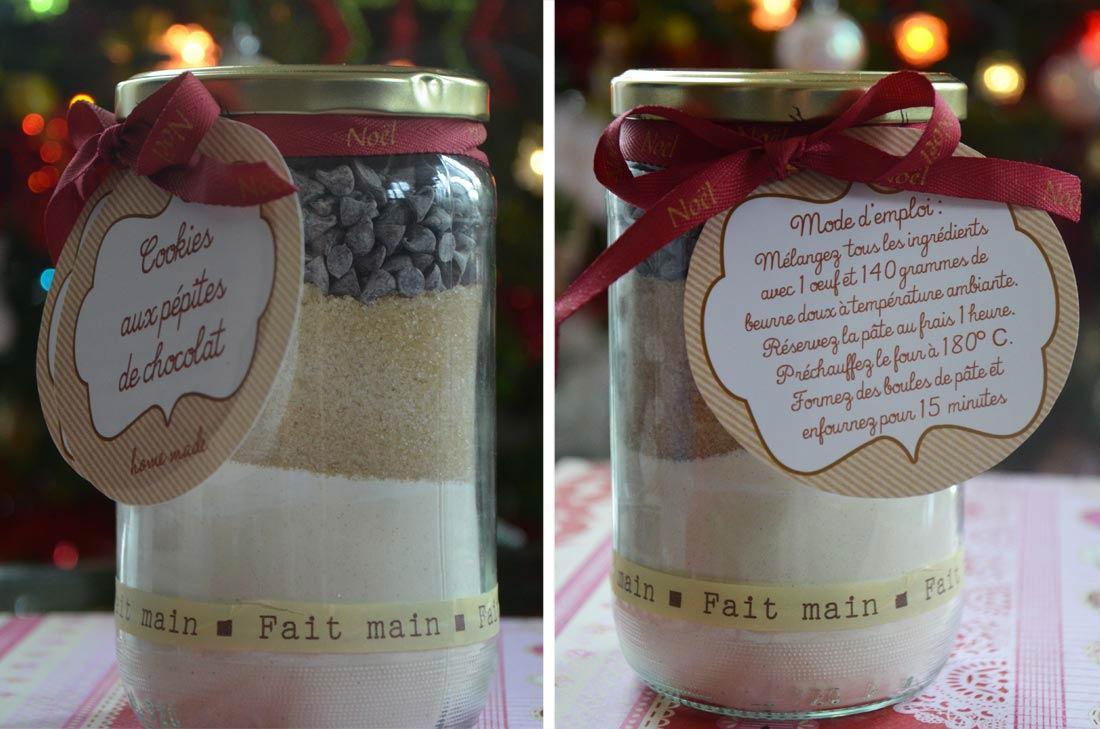 cookies en kit pour des cadeaux gourmands et étiquettes à télécharger gratuitement pour les personnaliser