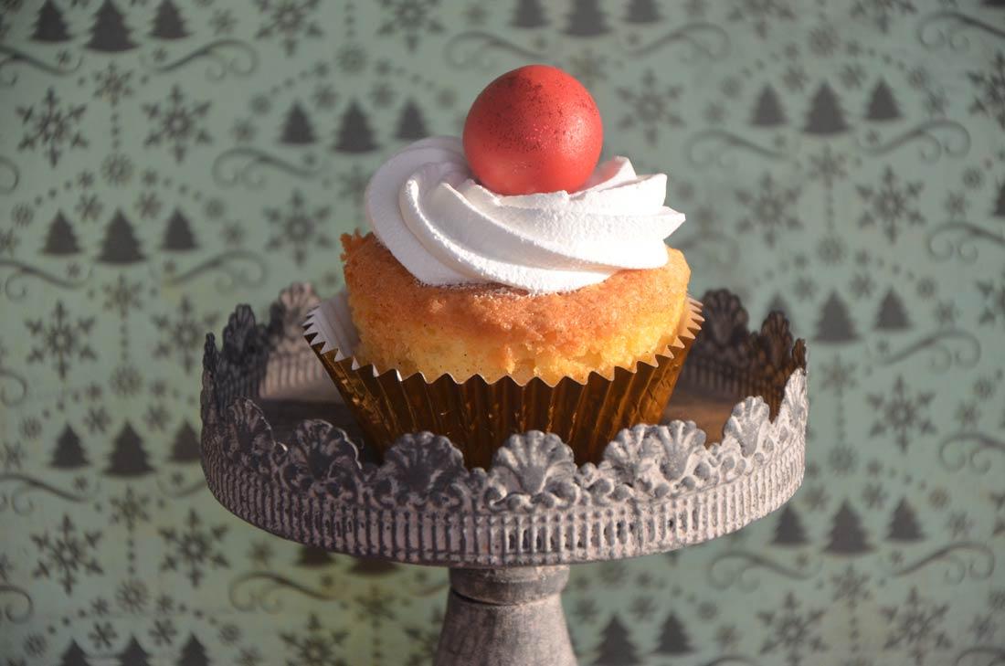 cupcakes de Noël en pâte d'amande