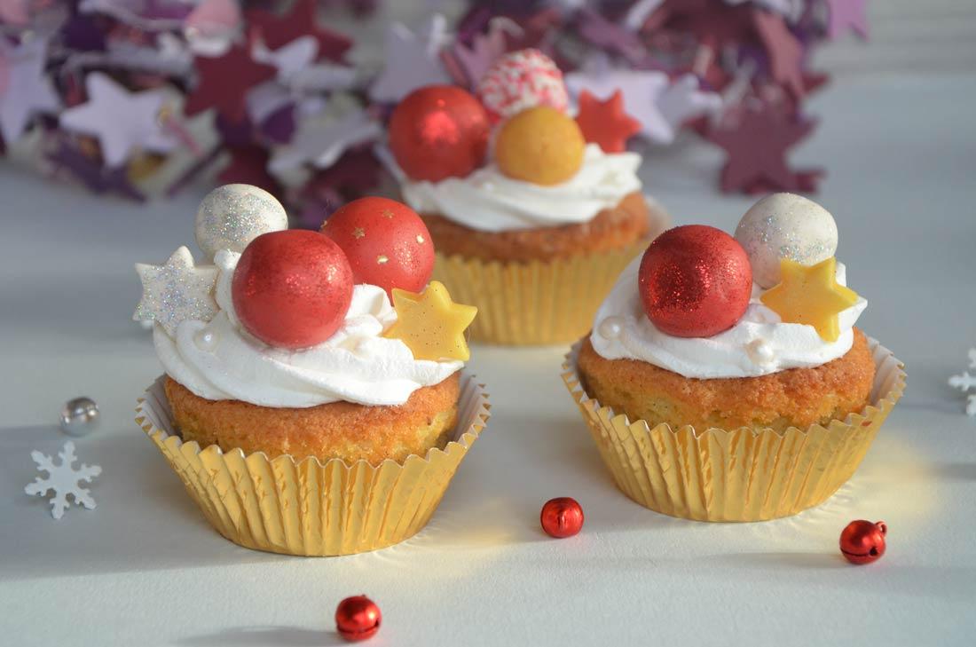 Cupcakes de Noël coeur crème de marrons