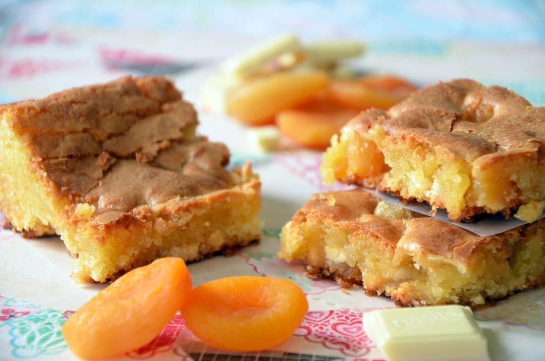 Blondies chocolat blanc abricots secs
