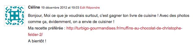 Qui a gagné le livre de recettes de Turbigo Gourmandises