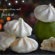 meringues citron vert et fleur de sel