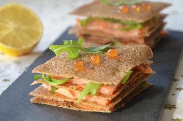recette de millefeuille de crêpes au saumon : une excellente recette bretonne