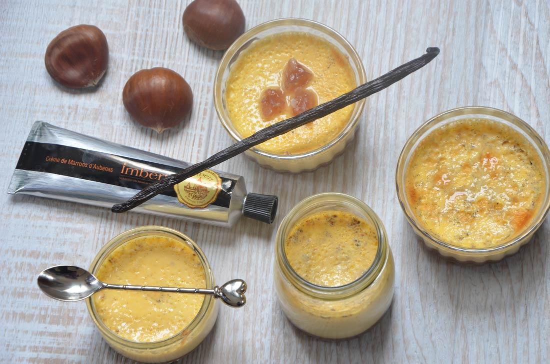 Petits pots vanille crème de marrons