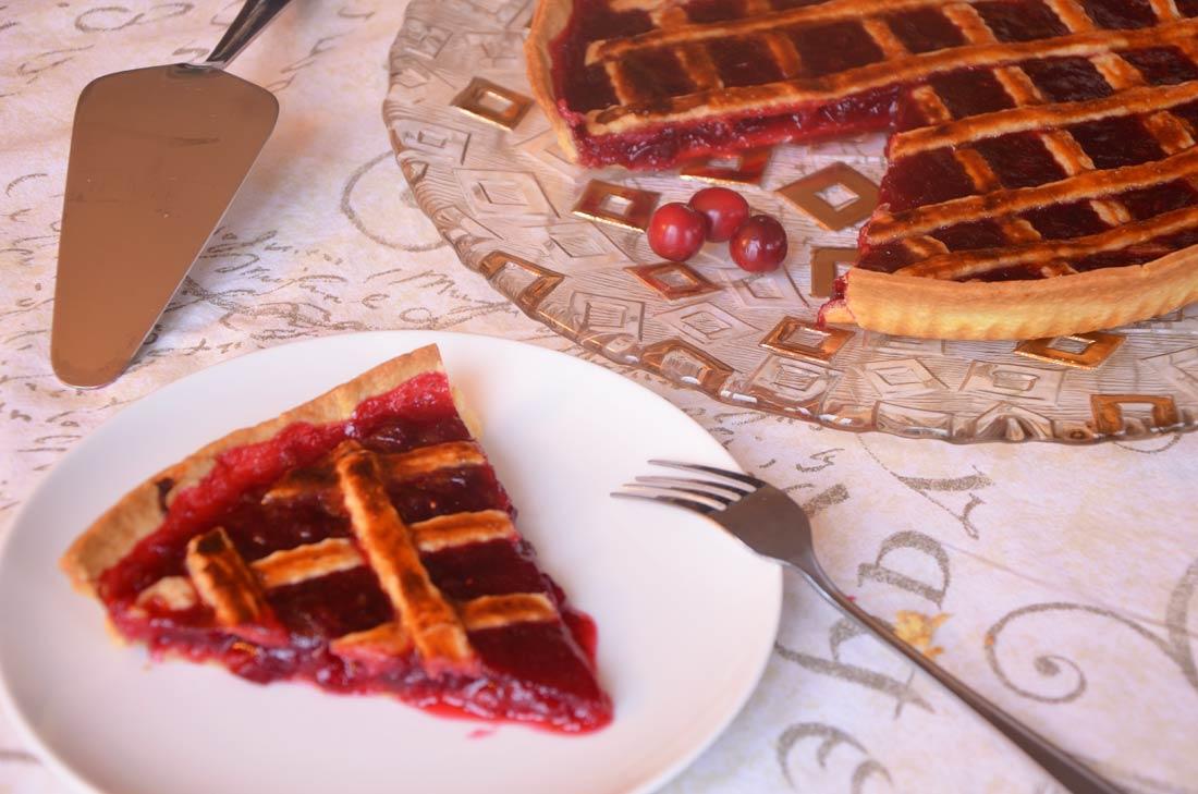 Tarte aux canneberges et aux cranberries