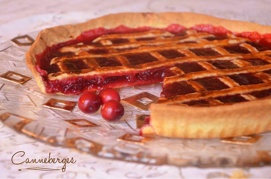 Tarte aux canneberges