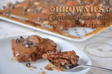 Brownies caramel chocolat noix de pécan