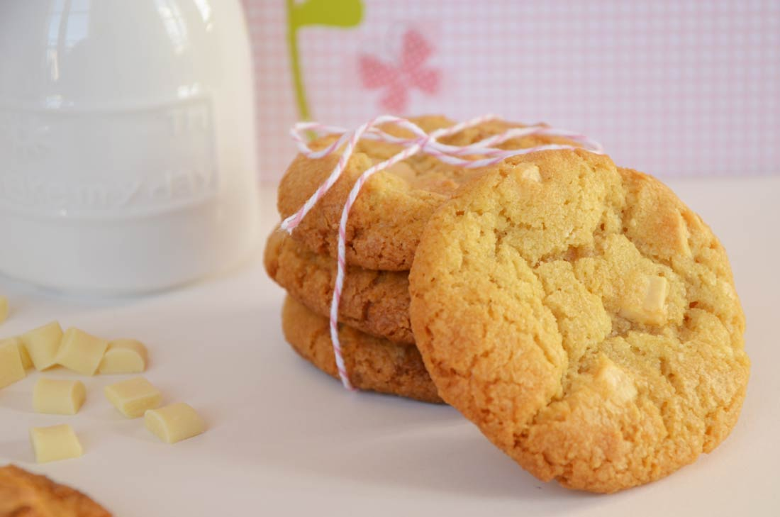 Délicieuse recette de cookies au chocolat blanc