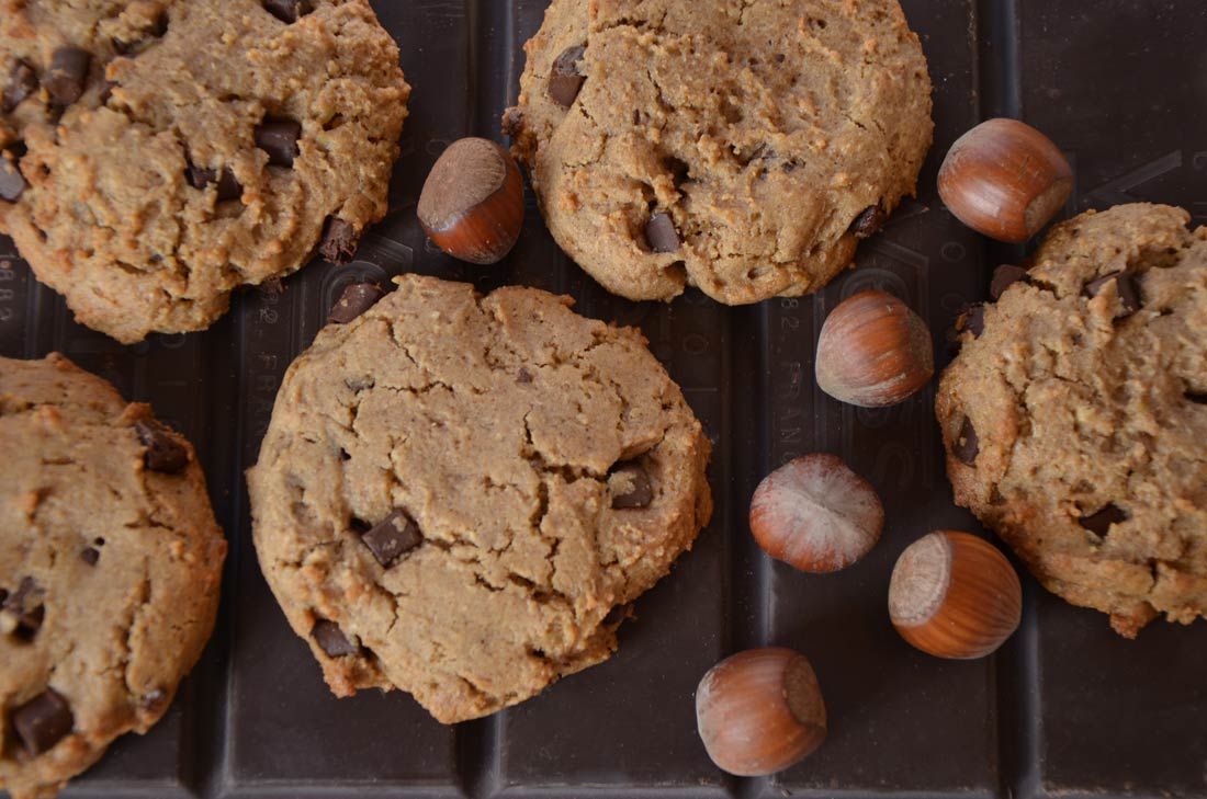 Recette de cookies au chocolat noisettes sans gluten