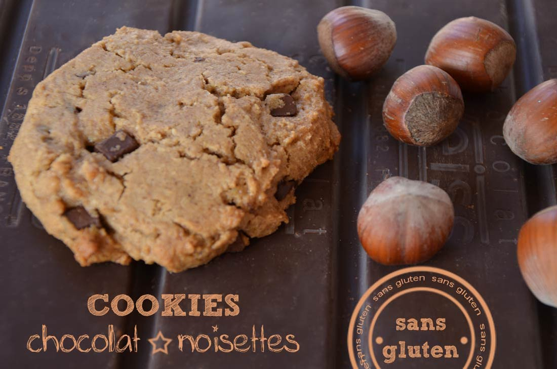 cookies chocolat noisettes sans gluten