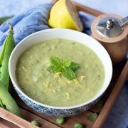 soupe petits pois poireaux menthe