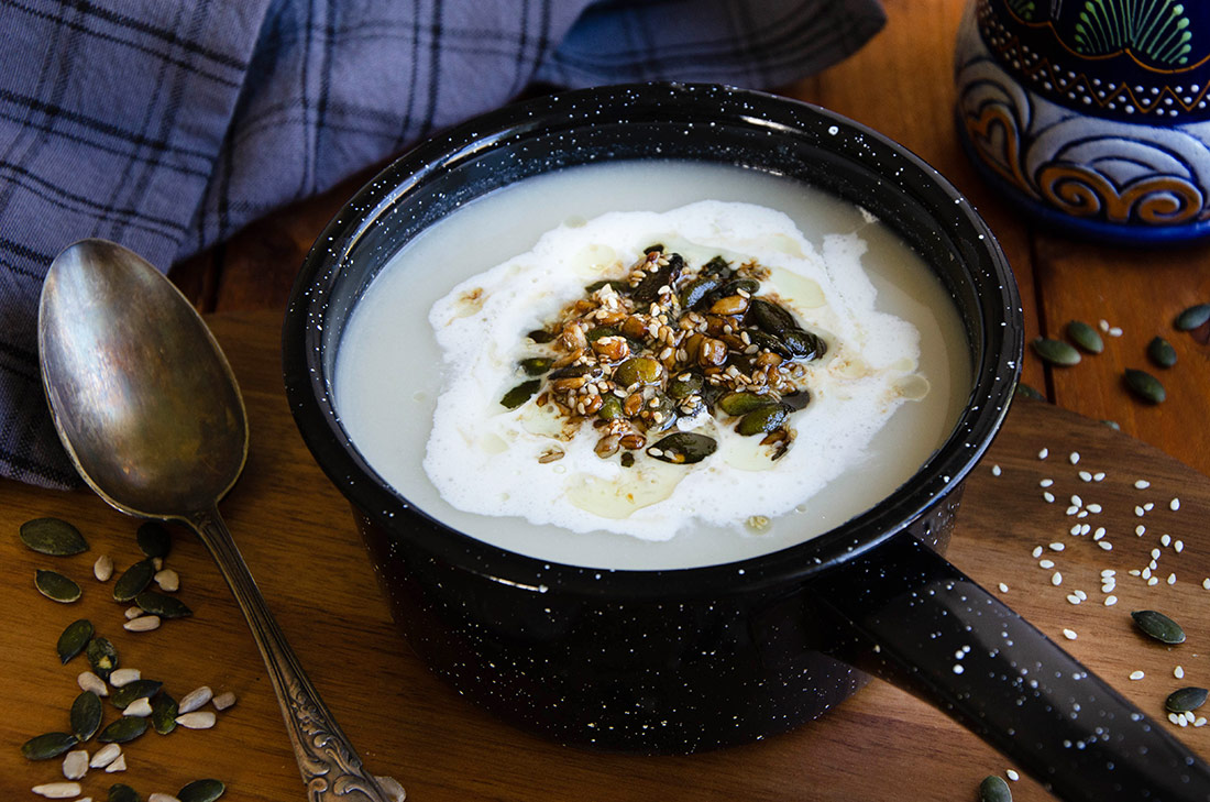 Soupe chou-fleur gingembre